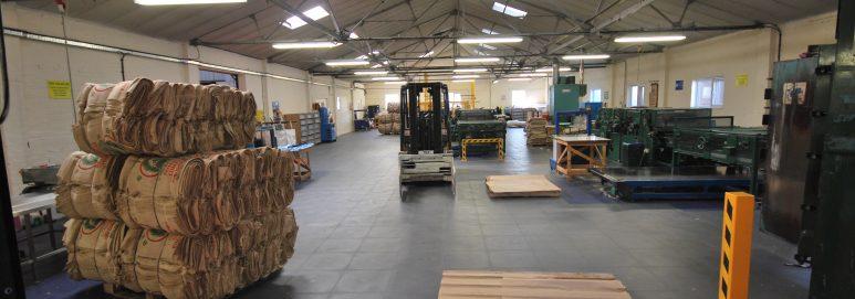ecotile industrial flooring in use at SG Baker Ltd