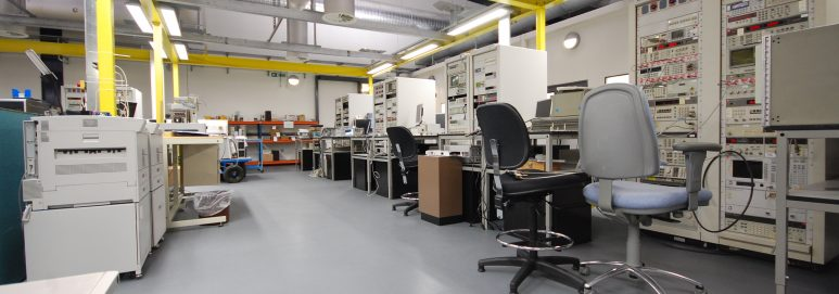 Ecotile ESD antistatic flooring in use