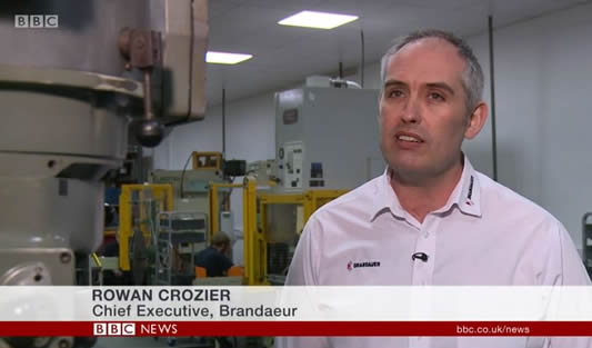 Brandaeur Chief Executive Rowan Crozier