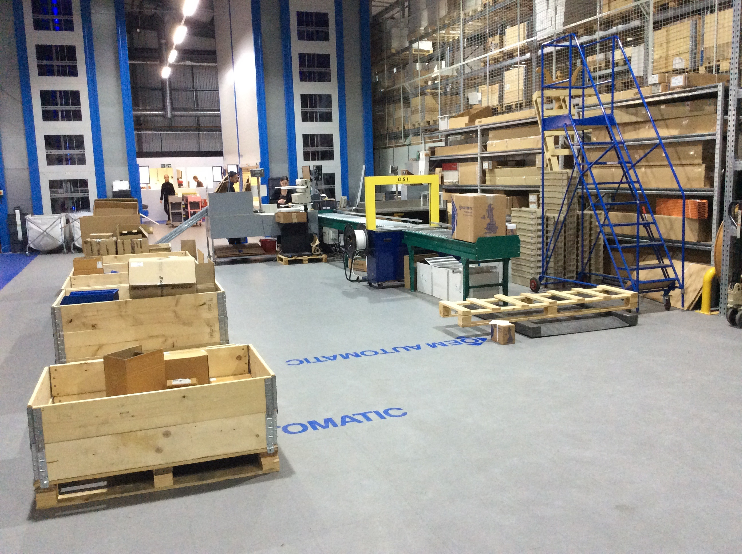 Ecotile Flooring In A Warehouse - The Value Of Exhibitions
