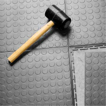Interlocking tiles are easy to install