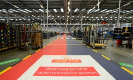 Our warehouse flooring hard at work at royal mail