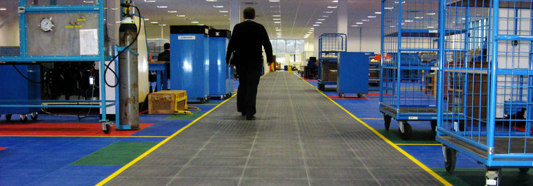 Factory Flooring For Production And Manufacturing Areas