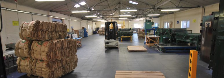 ecotile industrial flooring in use at SG Baker Ltd