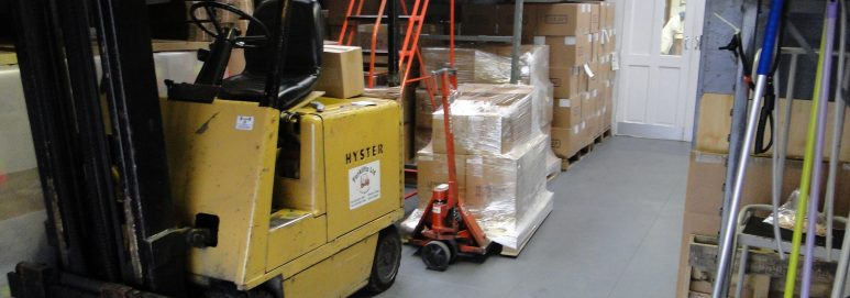 Cocap specialist packing services using Ecotile flooring in their warehouse