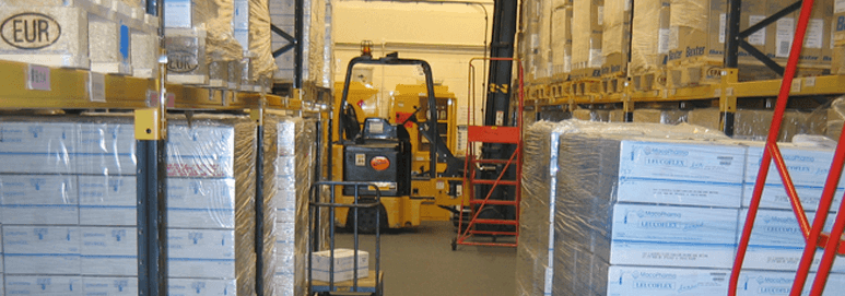 Our warehouse flooring hard at work