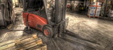 industrial floor taking punishment