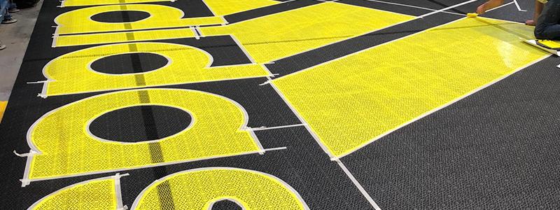 Adidas Painting Flooring