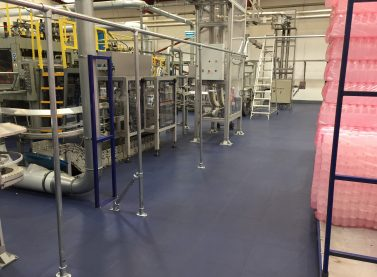 Blowplast Ltd Factory With Ecotile Flooring Installed