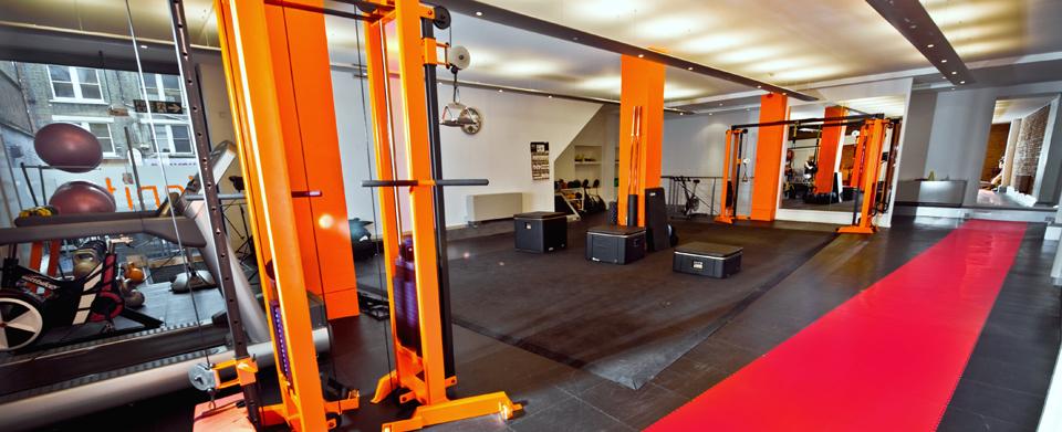 gym flooring orange two