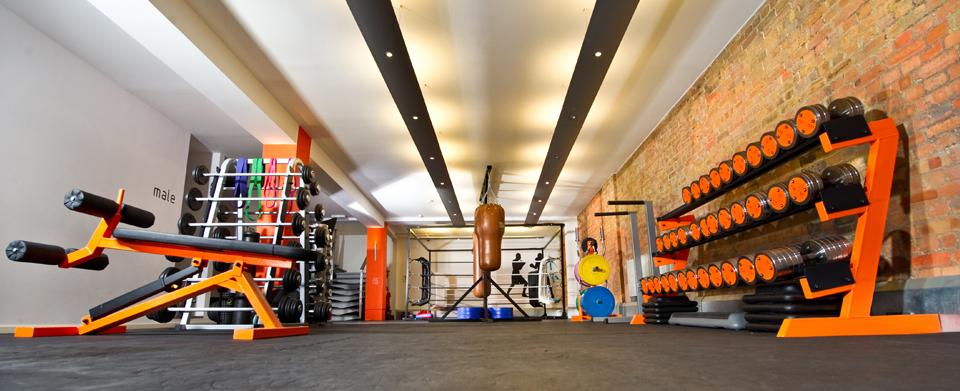 gym flooring orange one