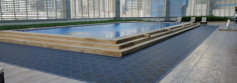 Wet Area Swimming Pool Flooring Outdoor Pool Surrounds